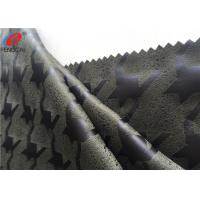 Quality Knitted Faux Micro Suede Polyester Fabric Embossed Home Textile Material For Upholstery for sale