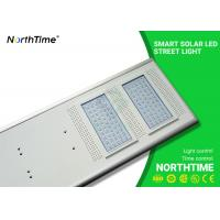 Quality LiFePO4 Battery Smart Solar Powered LED Street Lights Outdoor Energy Efficiency for sale