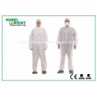 Quality Splash Proof Type 5 6 SMS Disposable Coveralls With Hood for sale