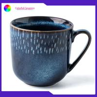 Buy cheap Household Drinking Promotional Ceramic Coffee Mugs Blue Creative Glaze from wholesalers