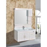 Quality Embossing PVC Wall Hanging Bathroom Vanity / Bathroom Decoration Furniture for sale