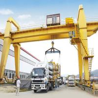Quality 50 Ton Electric Mobile Rail Mounted Double Girder Gantry Crane Compact Structure for sale