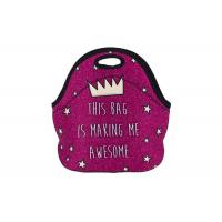 Quality Custom made lunch bags , neoprene fashionable lunch bags with printing for sale