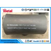 Quality Seamless Alloy Steel Pipe Fittings SA234 WP12 Reducing Tee 5'' X 2 1/2'' SCH80 for sale