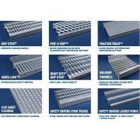 China Anti Skid Galvanized Steel Stair Treads Diamond Grip Flame Retardant on sale