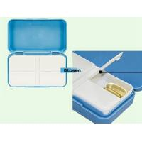 Quality Rectangle Blue Plastic Travel Mini Pill Case For Womens 95*56*21mm for sale