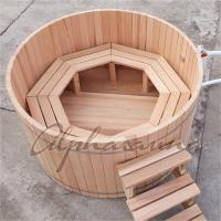 Buy cheap Cedar Fence Wooden Barrel SPA Hot Tub , Wood Fired Bathtub No Electricity from wholesalers