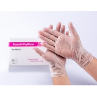 Quality Ambidextrous Non Medical Disposable Vinyl Gloves With Powdered Free S M L XL for sale