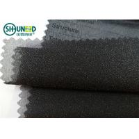 Quality Garment Suits Plain Weave Fusible Woven Interlining Polyester Light Weight for sale