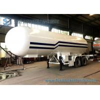 Quality 21T LPG Tank Trailer BPW 2 Axles 49600L LPG Gas Tanker Truck 1mm Rust Thickness for sale