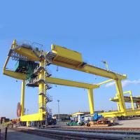 Quality Port Yard Container Gantry Crane Double Girder Movable Rail Mounted 18.2m Lift for sale