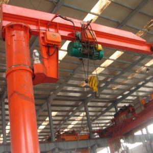 Quality 360 Degree Rotating Floor Mounted Jib Crane , Long Life Column Console Crane for sale