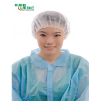 Quality Single Use Free Size Non Woven Bouffant Cap With Single Elastic for sale