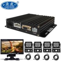 Quality 4 Channel Vehicle Mobile DVR H.264 Video Compression Embedded Linux OS for sale