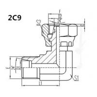 Quality 2C9 hydraulic hose fitting, carbon steel material and complete in specifications for sale