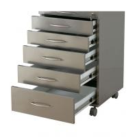 Quality Dental Equipment Mobile Steel Storage Dental Cabinet With 5Drawers for sale