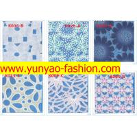 Quality fancy flower design nylon stretch lace fabric dress white lace fabric for sale