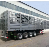 China fence semi trailer 3 axle cargo animal transport  trailers for sale on sale