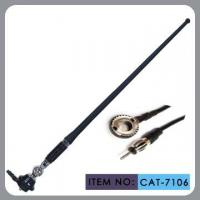 Truck Am Fm Rubber Car Antenna For Black Pvc Mast Chrome Zinc Alloy