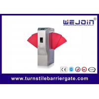 Buy cheap Widen Lane SS Automatic Turnstiles Flap Barrier Electro - Mechanical Design from wholesalers