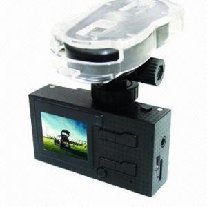 China HD 720P Dual-camera Car Black Box/Vehicle DVR with GPS/G-sensor/Voice Speech/AV-in/Motion Detection on sale