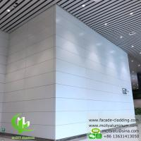 Quality Interior Wall Covering Aluminum Solid Panel , White PVDF Finish Aluminium Cladding Sheet for sale