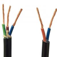 Quality PVC Insulation Flexible Round Control Cable KVV 450/750V in black color Jacket for sale