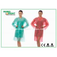 Quality PP MP TVK Disposable Laboratory Coats With Shirt Collar for sale