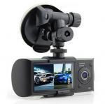 Quality Multi Media G-Sensor Dual Lens Car DVR Recorders NTK 96632 Stereo Built-In , ROHS for sale