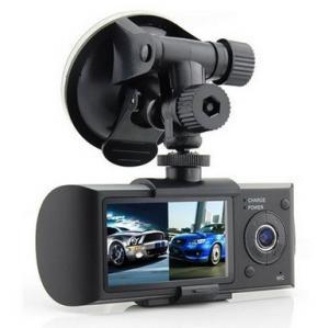China Multi Media G-Sensor Dual Lens Car DVR Recorders NTK 96632 Stereo Built-In , ROHS on sale