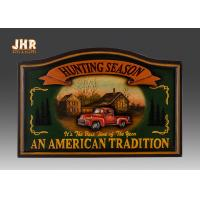 Quality Antique Wall Pub Sign Wooden Wall Plaques Decorative Animal Wall Art Signs Resin Car for sale