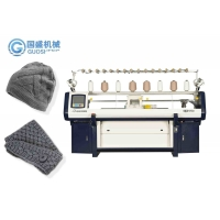 Quality Knitting machine manufacturer Double system computerized winter hat with comb for sale
