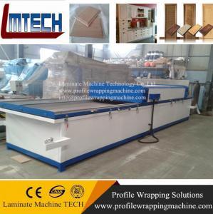 China pvc film laminate kitchen cabinet doors vacuum membrane press machine on sale