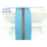 Quality Bright Color Tape 10 Inch Separating Zipper , Long Chain Coil Zipper By The Yard for sale