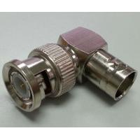 Quality Right Angle BNC Male To BNC Female Connector L-shaped RoHs CE Certification for sale