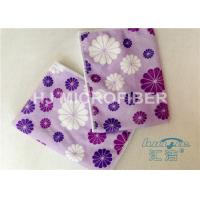 Quality Promotional Printed Microfiber Washcloth Clothing Towel , Window Cleaning Cloths for sale