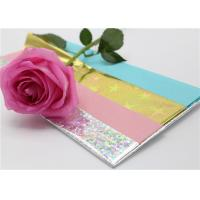 Buy cheap Wrapping Presents Waxed Tissue Paper With PET Holographic Film 50 X 70CM from wholesalers