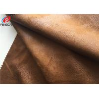 Quality Super Soft Brushed Microfiber Suede Upholstery Fabric , Bronzing Sofa Fabric for sale