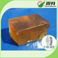 Quality PSA Hot Melt Glue Adhesive Tape For Paper Label YD-102B , Yellow And Transparent Block for sale
