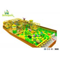 Quality Green Yellow Color Indoor Soft Playground With Protective Web / Climbing Wall for sale