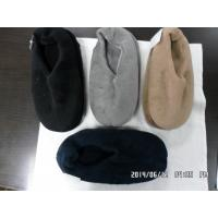 Quality slippers for men coral fleece plain for sale