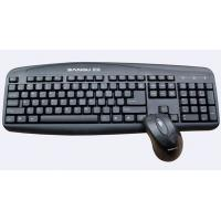 Quality 5V 100mA Black wireless USB Keyboards and mouse with Laser print letter WES-K-002 for sale
