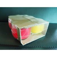 Quality Fragrance Glass Jar Candles Paraffin Wax Red, Yellow for sale