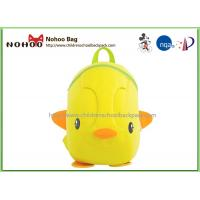 Yellow Kid School Backpack Duck Shape Bags NH017 SBR Material Backpacks For School