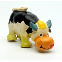 Quality Lovely Latex cow shape dog teaser toy for sale