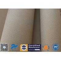 "Quality Brown Silica Fabric 1400℉ 1200G 1.3MM 36"" High Temp Insulation Blanket for sale"