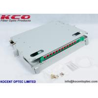 Buy cheap 1U 12 Core Fiber Optic Patch Panel , Optical Termination Box For 19'' Distributi from wholesalers