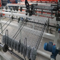 Quality 4m wide Chinese export market customers Single-line high-efficiency fully automatic PLC link fence machine for sale