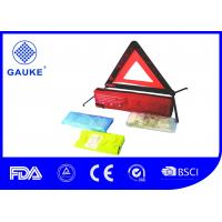 3 In 1 Auto Roadside Emergency Kit , Roadside First Aid Kit With Reflective Car Warning Triangle
