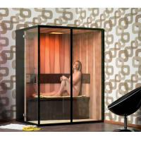 Buy cheap Hemlock Wood 3 Person Infrared Sauna Room 1800w With Video Player from wholesalers